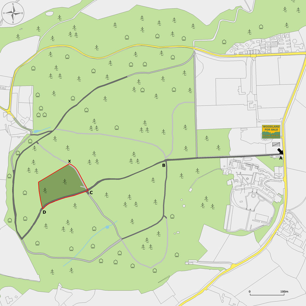 Woodland For Sale Plan